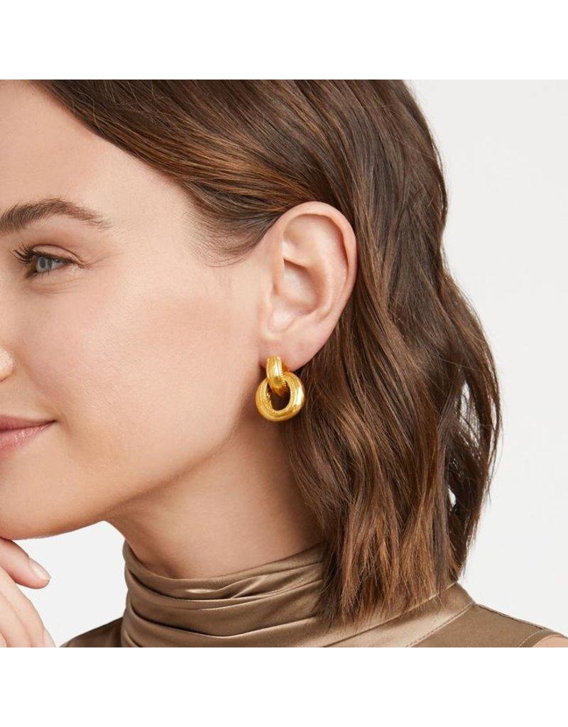 Julie Vos Cassis Doorknocker Earring
