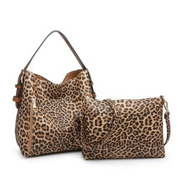 Jen & Co Alexa 2-N-1 Hobo Bag with Dual Zip Accessory Compartment