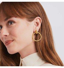 Julie Vos Windsor Doorknocker Earring