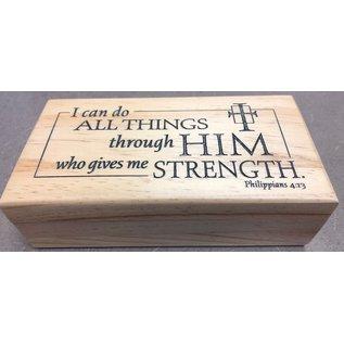 I Can Do All Things Wood Keepsake Box