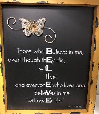 Believe Word Plaque