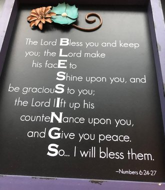 Blessings Word Plaque