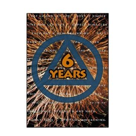 6 Year AA Greeting Card