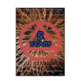 5 Year AA Greeting Card