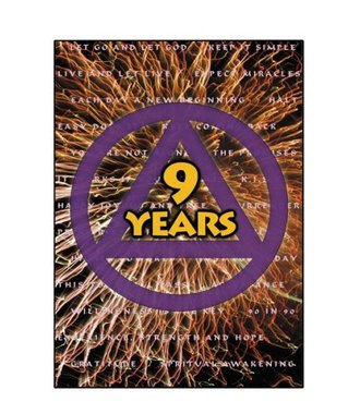 AA Logo- 9 Years Greeting Card