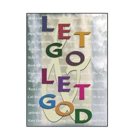 Let Go & Let God Greeting Card