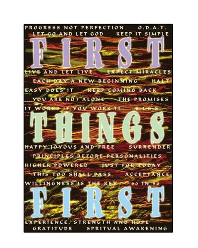 First Things First Greeting Card