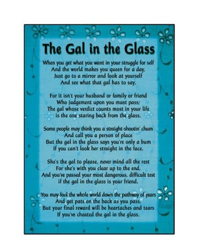 Gal In The Glass Greeting Card