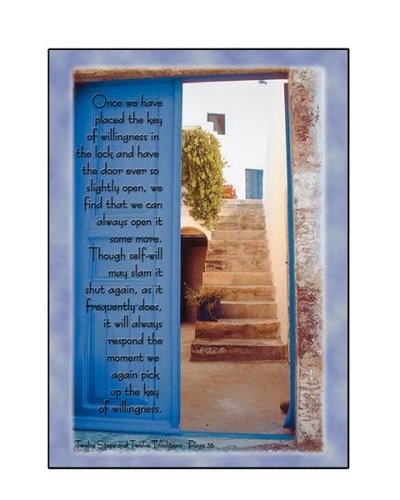 Key To Willingness Greeting Card