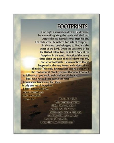 Footprints Greeting Card