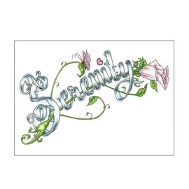 Serenity (Word) Greeting Card