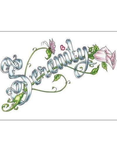 Serenity (Word) Greeting Card