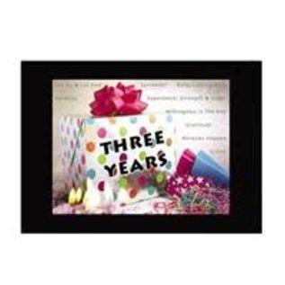 Three Years Greeting Card
