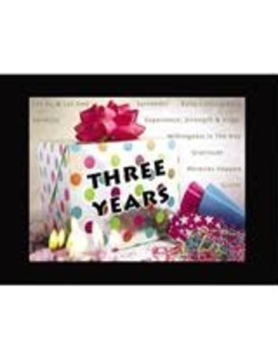 Time to Celebrate 3 Years Greeting Card