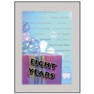 Eight Year Greeting Card