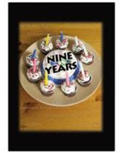 Time to Celebrate 9 Years Greeting Card