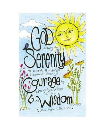 Serenity Prayer (Sun) Greeting Card