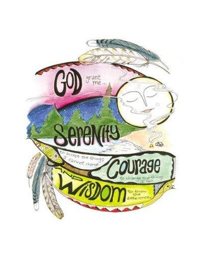 Serenity, Courage & Wisdom Greeting Card