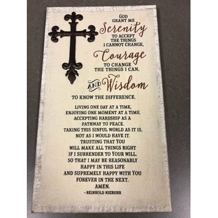 Serenity Wall Plaque W/Cross