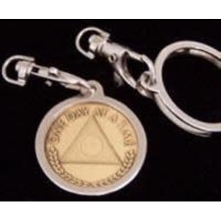 Key Ring, Nickel, Round, Top