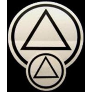 Sticker, AA Symbol Small Black/Clear