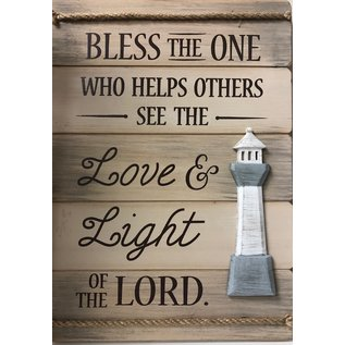 Love & Light of The Lord Wall Plaque W/Lighthouse