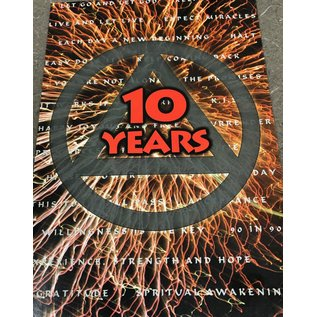 10 Years AA Greeting Card