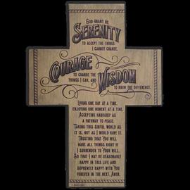 Serenity Prayer Standing Cross