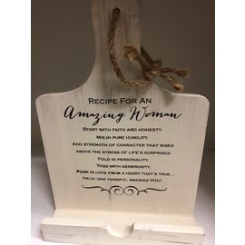 Amazing Woman Cookbook or Tablet Holder