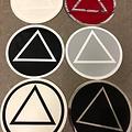 Sticker, AA Symbol Large Black/ White