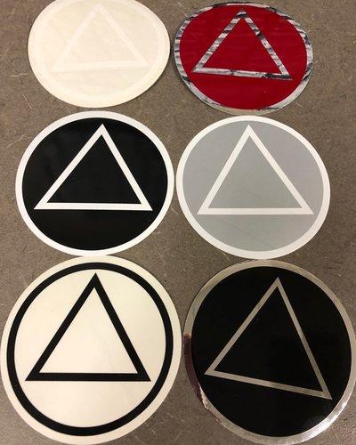 Sticker, AA Symbol Large Black/Clear