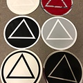 Sticker, AA Symbol Large Red/Silver