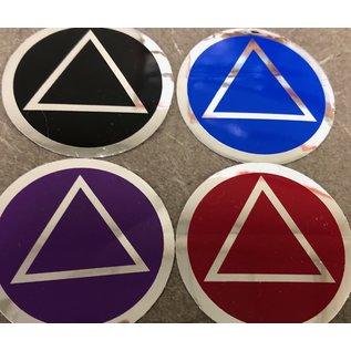 Sticker, AA Symbol Small Black/Silver