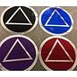 Sticker, AA Symbol Small Blue/Silver