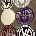 Sticker, NA Logo Large White