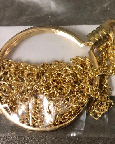 Medallion Holder Necklace - Gold