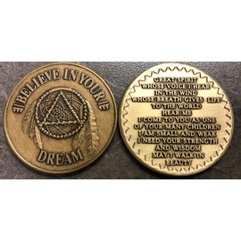 Believe In Dream Native American Medallion