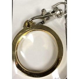 Key Ring, Gold, Round -Top