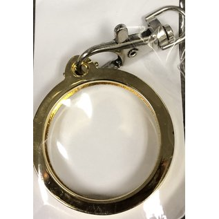 Key Ring, Gold, Round -Top
