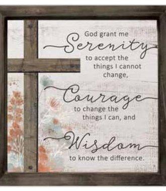 Serenity Prayer Layered Wall Plaque