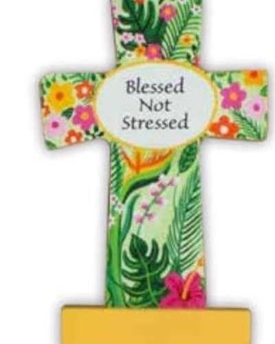 Comfort Cross - Blessed Not Stressed