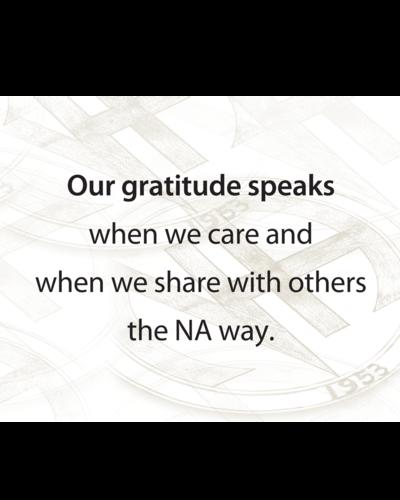 Poster, NA Gratitude Speaks