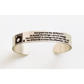 Bracelet, Serenity Prayer Band Bracelet