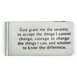 Serenity Prayer Money Clip