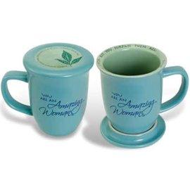 Amazing Woman Blue Mug & Coaster