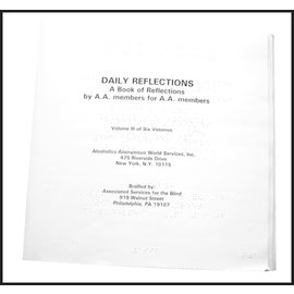 Daily Reflections - Braille