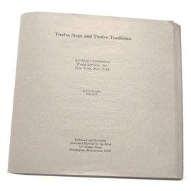 Twelve Steps and Twelve Traditions - Braille