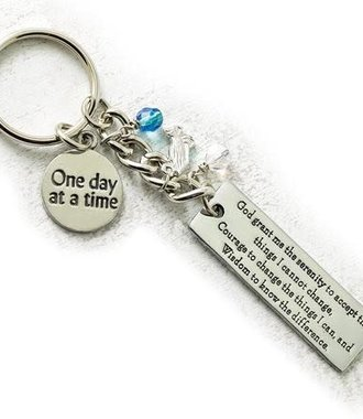 Key Ring, One Day at a Time with Serenity Prayer