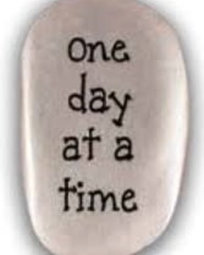 One Day At A Time Thumb Stone