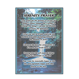 Serenity Prayer (Waterfall) Greeting Card